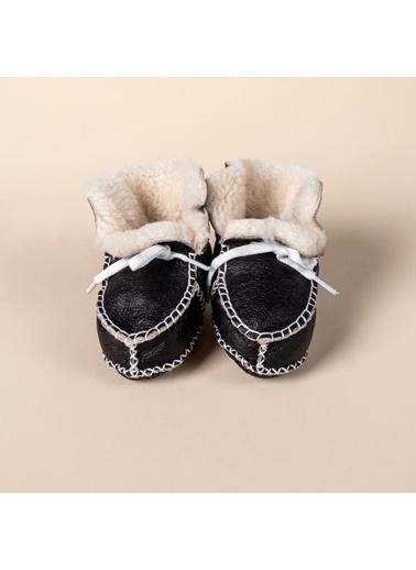 POKY Ilk Adım Organik Bebek Panduf Ayakkabı Ipli Kahve